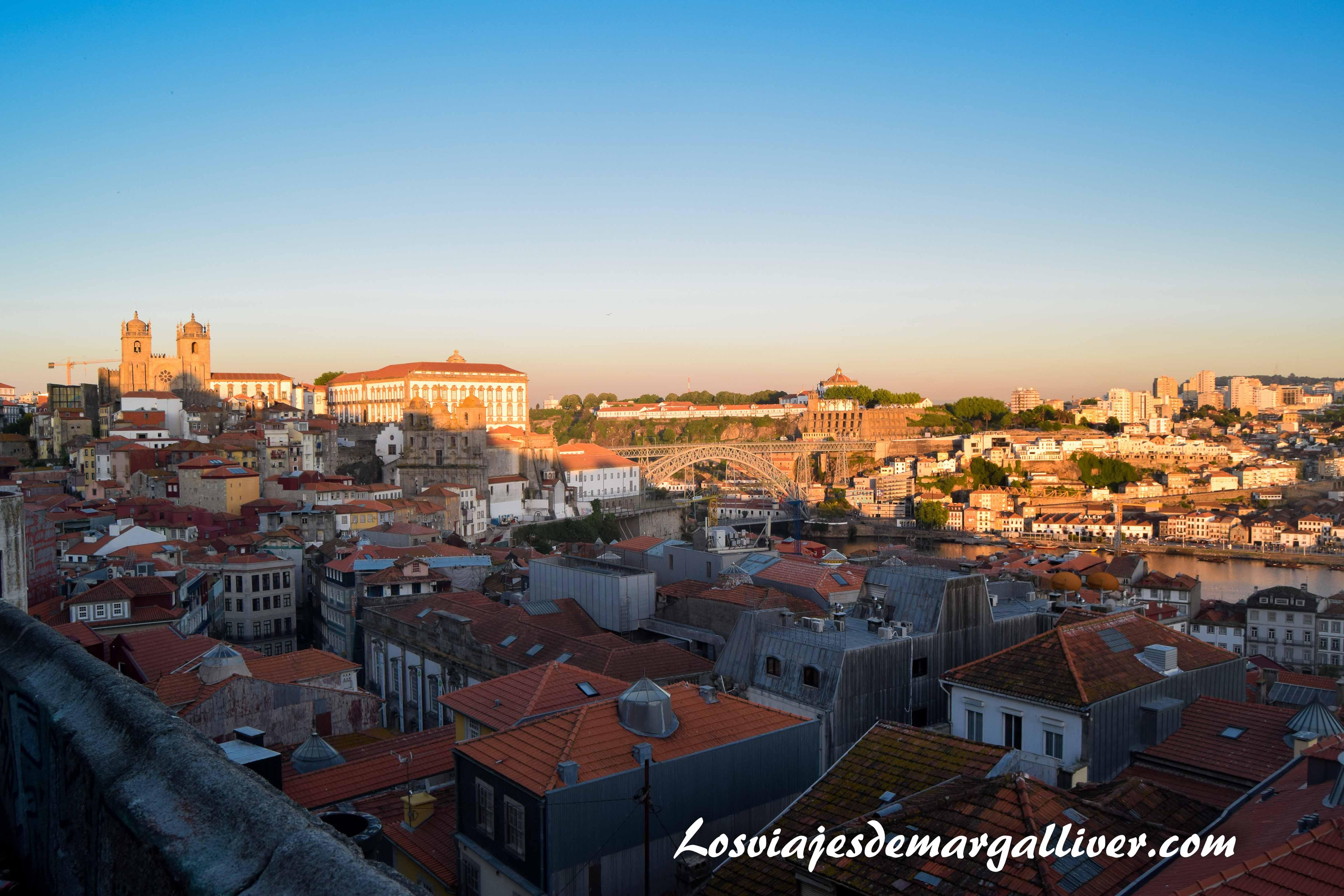 Vistas desde el mirador Sao Benito da Vitoria en Oporto - Los viajes de Margalliver que ver en Oporto